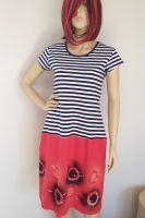 Malované batikované šáty - Kapitánka Batitex - malovaná trička, mikiny, šátky, šály, šaty