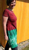 Malované batikované šaty - Jarní nádech Batitex - malovaná trička, mikiny, šátky, šály, šaty