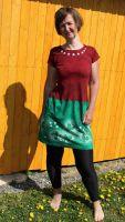 Malované batikované šaty - Jarní nádech