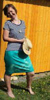 Malované, batikované šaty - Mořský svět