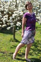 Malované batikované šáty - Po závojem něžnosti Batitex - malovaná, batikovaná trička, šaty, mikiny, šátky, šály, kravaty