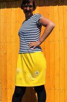 Malované, batikované šaty - Slunečné pohlazení Batitex - malovaná, batikovaná trička, šaty, mikiny, šátky, šály, kravaty