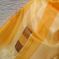 Hedvábná malovaná šála - Svit podzimu 2 Batitex - malovaná, batikovaná trička, mikiny, hedvábné šátky, šály, kravaty