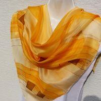 Hedvábný malovaný šátek - Svit podzimu 2
