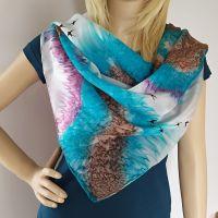Hedvábný malovaný šátek 2  - Na viděnou....