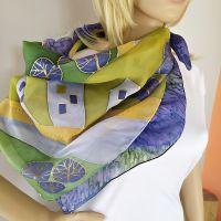 Hedvábný malovaný šátek - Tady jsem doma 2