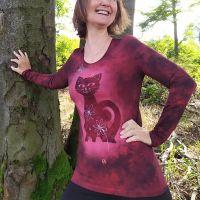 Batikované dámské tričko - Jahodová Mendy | velikost S, velikost M, velikost L, velikost XL, velikost 2XL