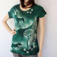 Dámské batikované tričko - Zdivočelé mládí