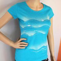 Dámské malované tričko - Můj svět na vlnách