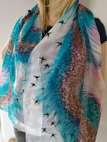 Hedvábná malovaná šála - Na viděnou