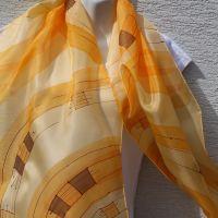 Hedvábná malovaná šála - Svit podzimu