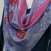 Hedvábný malovaný šátek - Balada o podzimu Batitex - malovaná, batikovaná trička, šaty, mikiny, šátky, šály, kravaty