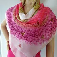 Hedvábný malovaný šátek 2v1- Lákavá záležitost