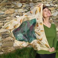 Hedvábný malovaný šátek - Podzimní klasika 2