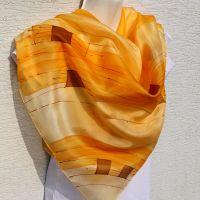 Hedvábný malovaný šátek - Svit podzimu Batitex - malovaná, batikovaná trička, šaty, mikiny, šátky, šály, kravaty